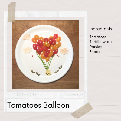 Easy Fun Food Art for kids from tomatoes