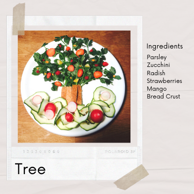 Rich result in google for fun food art for kids tree
